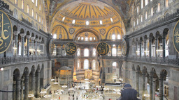 Aya Sofia interior Stock Video Footage