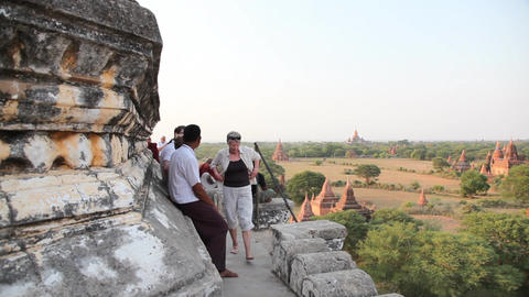 Bagan temple exterior Stock Video Footage