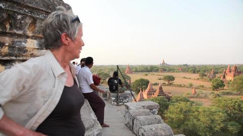 Bagan temple exterior Stock Video Footage