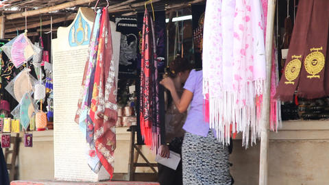 Market near Bagan temple Footage