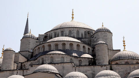Dome Of Blue Mosque stock footage
