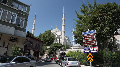 Blue mosque edit 9460 HD Stock Video Footage