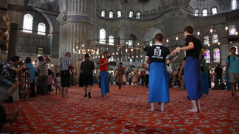 Blue Mosque Interior stock footage