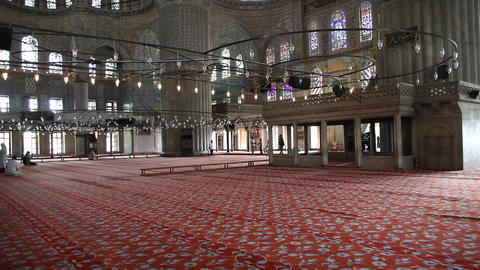 Blue mosque interior Footage
