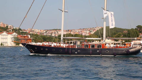 Travel along Bosphorus Stock Video Footage