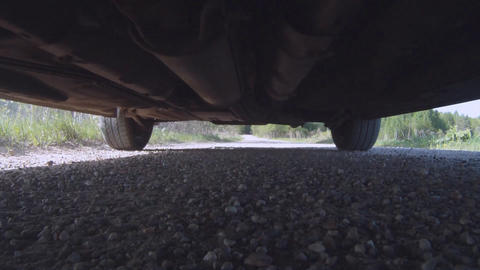 Car pass over the camera Stock Video Footage