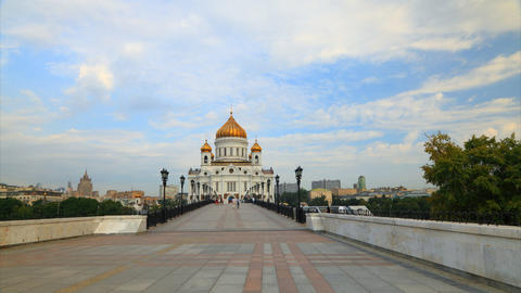 Cathedral Christ Saviour motion timelapse , Moscow, Russia Stock Video Footage