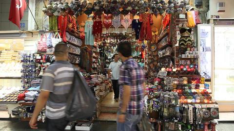 Egypt bazaar interior Footage