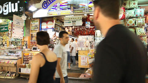 Egypt bazaar interior Stock Video Footage