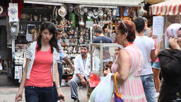 Shopping district at Egypt bazaar Stock Video Footage