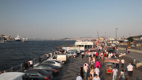Eminonu pier Stock Video Footage