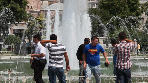 Fountain at Aya Sofia Stock Video Footage