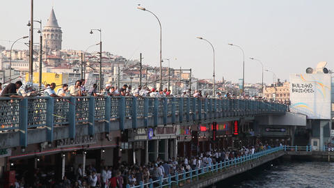 Galata bridge Footage