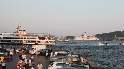 Golden Horn bay Footage