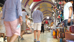Grand bazaar interior Stock Video Footage