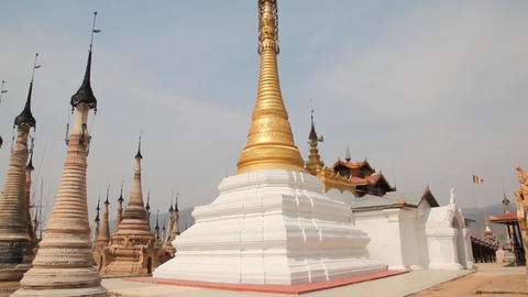 Takhaung Mwetaw Paya pagoda, Inle lake Footage
