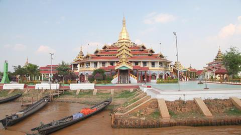 Phaung Daw Oo pagoda Stock Video Footage
