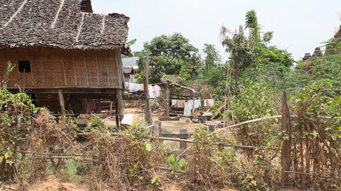 Samkar village, Myanmar Stock Video Footage