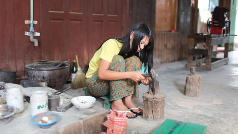 Jewelry workshop on Inle lake Footage