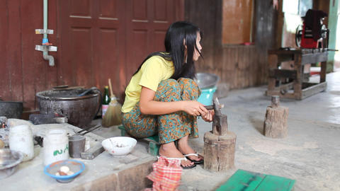 Jewelry workshop on Inle lake Stock Video Footage
