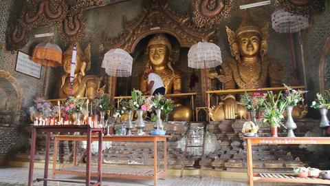 Inside Taung Tho Pagoda Footage