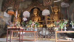 Inside Taung Tho Pagoda Stock Video Footage
