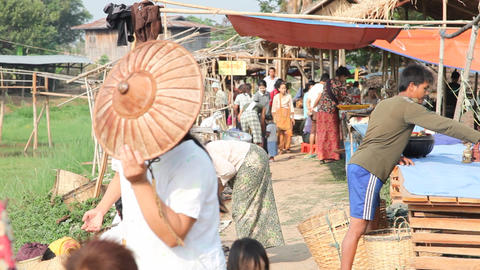 Shopping at the Ywama Market Live Action