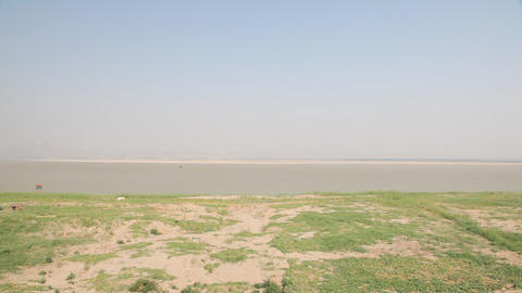 Riverbank of Irrawaddy River Footage