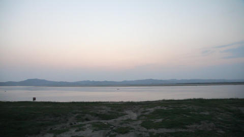 Boats on Irrawaddy River Stock Video Footage