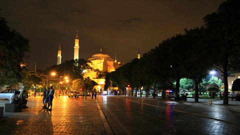 Ayasofya museum timelapse Stock Video Footage