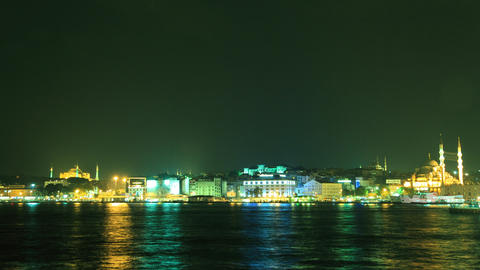 Golden Horn bay in Istanbul timelapse Stock Video Footage