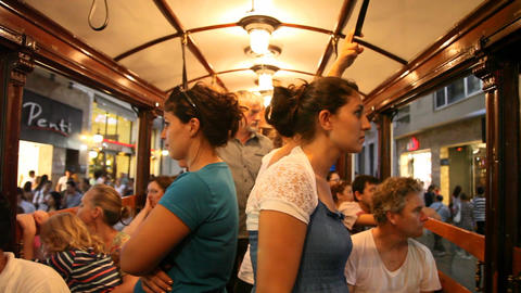 Istiklal tram edit 9244 HD Footage