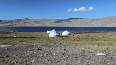 Mountain yurt at Khoton Nuur lake Footage