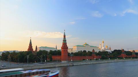 Kremlin sunset timelapse Stock Video Footage