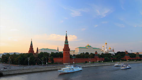 Kremlin sunset timelapse Footage