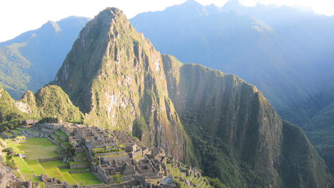 Machu Picchu zoom out tl 01 HD Stock Video Footage
