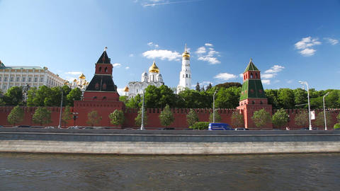 Travel along Kremlin loopable sequence Footage
