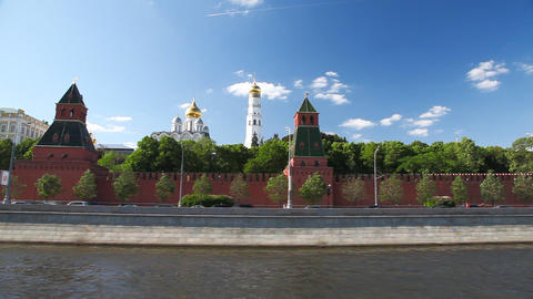 Travel along Kremlin loopable sequence Stock Video Footage
