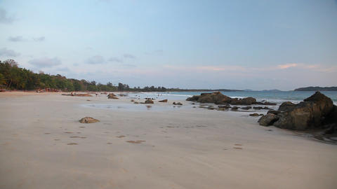 Ngapali beach sunset 8198 HD Footage