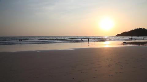 Ngapali beach sunset, Myanmar Stock Video Footage