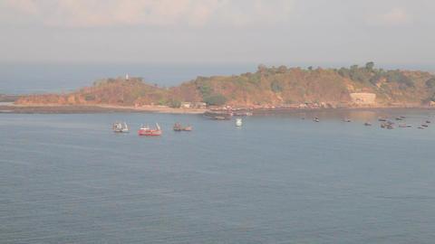 Fishing village bay Footage