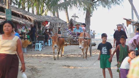 Ngapali fishing village edit 8003 HD Stock Video Footage