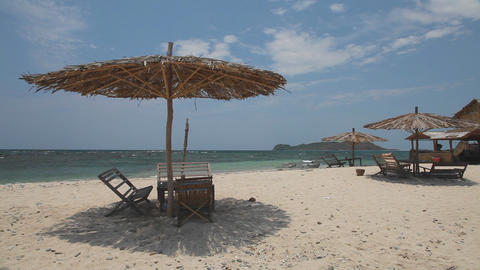 White sand beach on the island Stock Video Footage