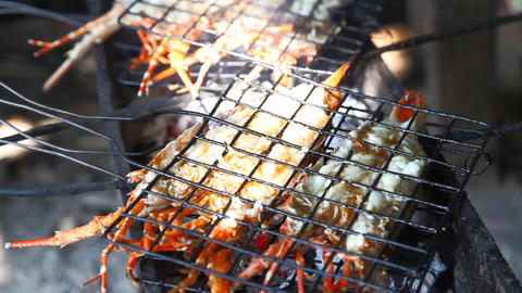 Lobster grill Stock Video Footage