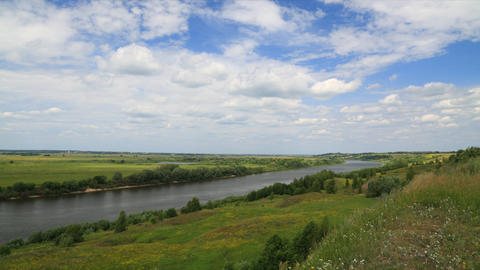 Riverbank landscape timelapse Footage
