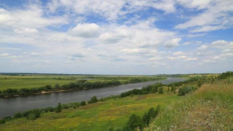 Riverbank landscape timelapse Stock Video Footage
