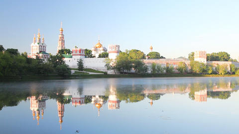 Novodevichy Convent sunrise Footage