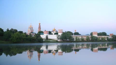 Novodevichy Convent sunrise time lapse Stock Video Footage