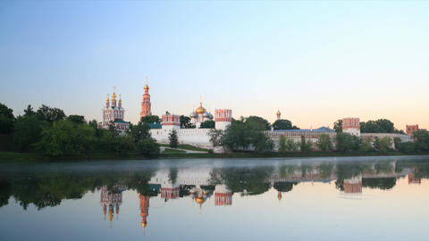 Novodevichy Convent sunrise time lapse Footage