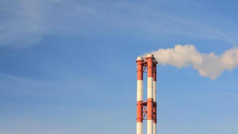 Smoke stacks timelapse Stock Video Footage